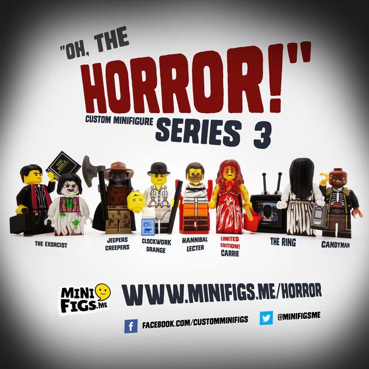 Hannibal Lecter Custom Minifigure Horror Movie Minifigures LEGO Compatible