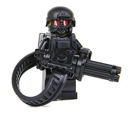 Heavy Gunner Minigun soldier (SKU69)- Battle Brick Custom Minifigure Battle Bric…