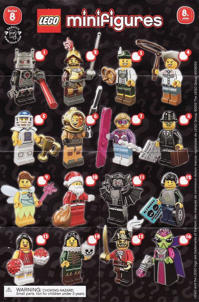 Lego Minifigures Series 8 Collection