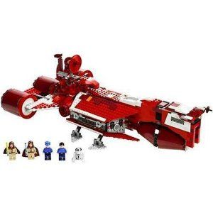 LEGO Star Wars Republic Cruiser by LEGO. $232.99. Republic Cruiser set includes five minifigures. Use the escape pod. Easy to assemble and durable. Feature hidden blaster cannons. Contains 919 pieces. From the Manufacturer                The Star Wars™ saga starts with a bang!  The limited edition Republic Cruiser is ready to shuttle Jedi Knights, ambassadors and diplomats to trouble spots all across the galaxy! The famous red starship from Star Wars Episode I.         …