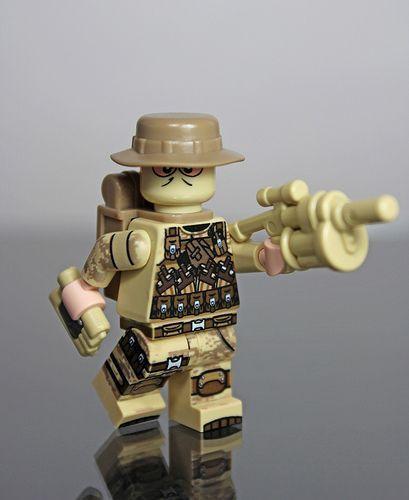 Desert Ops Explosives Expert Custom Minifigure
