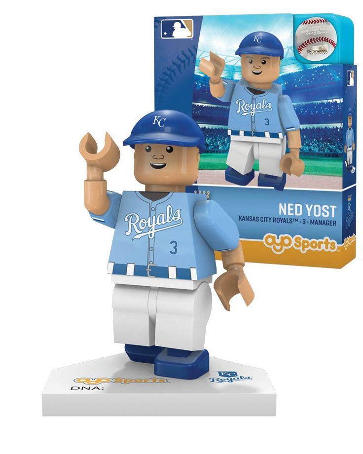 Kansas City Royals Generation 5 Ned Yost Lego Figurine by Oyo