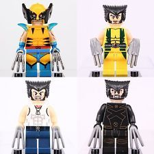 Custom Wolverine X-Men A Lego Fit Minifigure Building Toys