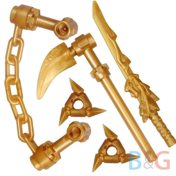 lego ninjago spinjitzu set 4 gold waffen gold weapons