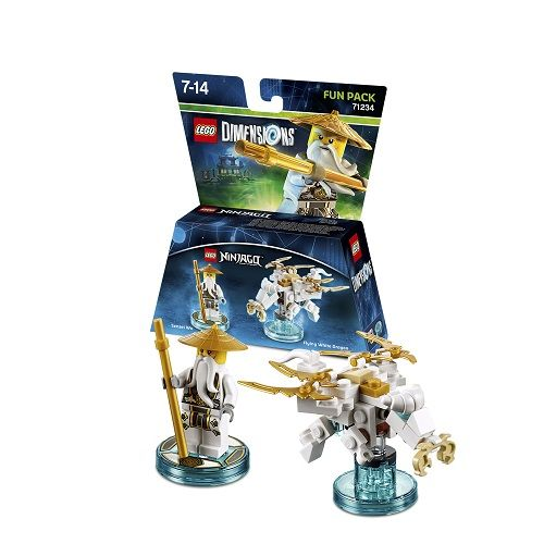 Lego Dimensions Fun Pack: Sensei Wu (Sensei Wu and Flying White Dragon included)