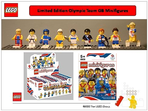 Limited Edition Olympics Lego Men! I know a 7 year old and 4 year old who would …