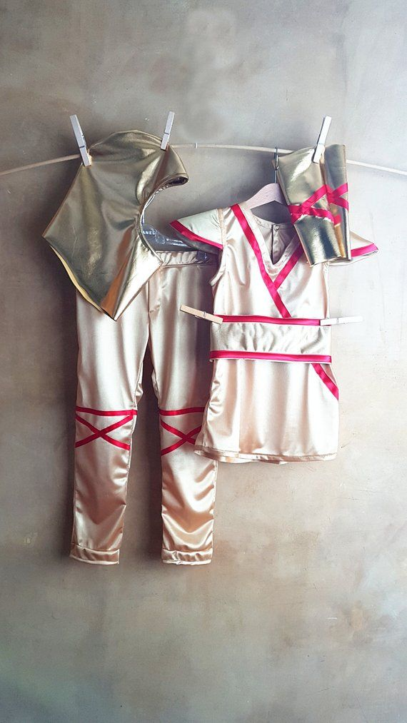 Golden Kai Costume, Lego Ninjago baby outfit, superheroe child dress, 5 pc, italian fashion, Gold and red kids disguise, newborn funny suit