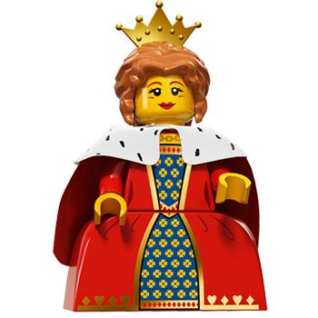 LEGO Queen Minifigure Series 15. Year 2016.