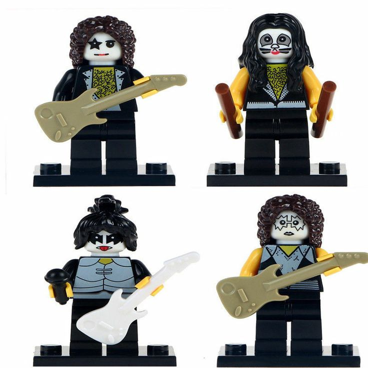 4Pcs American Rock Band The Kiss Paul Stanley Simmions Eric Custom  Minifigures