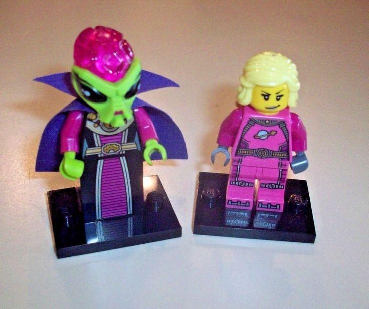 Lego Minifigure Series Lot of 2  Galactic Girl & Alien Villainess