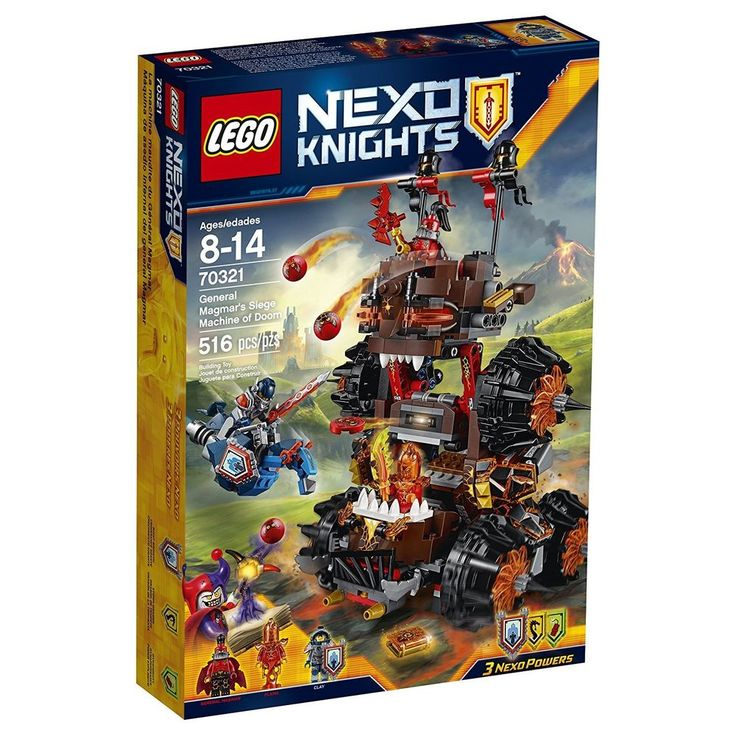 Details about LEGO NEXO KNIGHTS General Magmar's Siege Machine of Doom (70321)