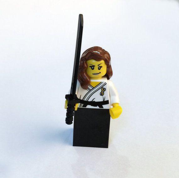 Aikidō Master (female) Custom MiniFigure made with genuine LEGO® parts / Judo / Martial Arts / Tae Kwon Do / TKD / Kung Fu / Aikido / Dojo