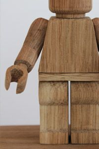 on display…..  Limited-edition handmade wooden robot toy by Montpellier-based …