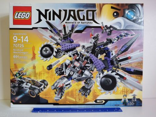 Details about LEGO Ninjago 70725 NINDROID MECHDRAGON – 691 piece set – Ages 9-14