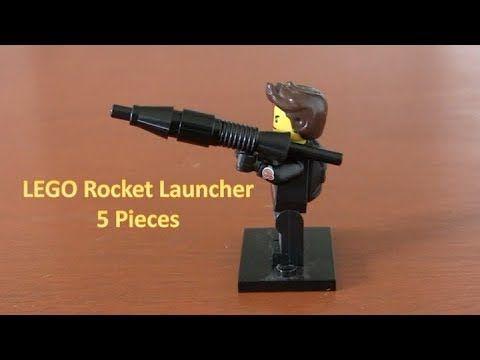 How To Build A LEGO Minifigure Rocket Launcher 5 Pieces