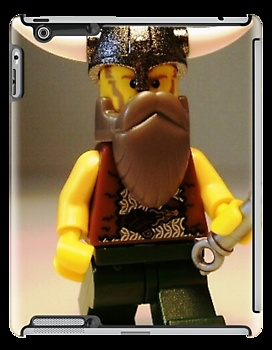 'Thor Minifig Viking Custom Minifigure with Custom Beard ' Laptop Skin by Chillee