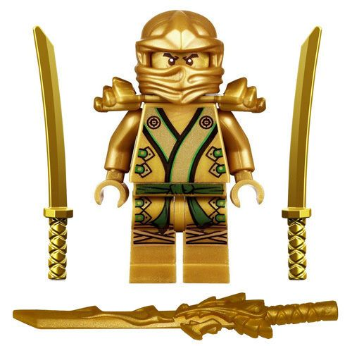 NEW LEGO GOLDEN NINJA with WEAPONS (as-pictured). | eBay!