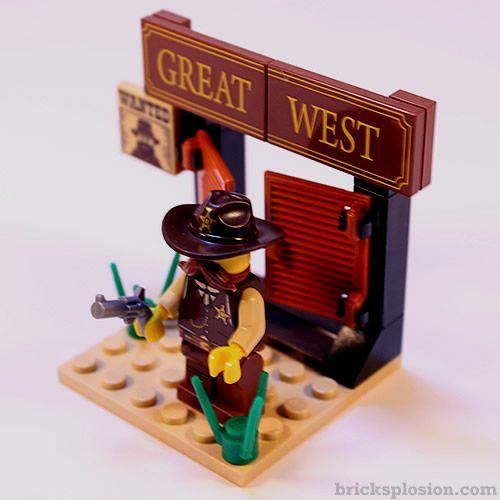 Lego Minifigure Series 13 Vignette Habitat for the Sheriff