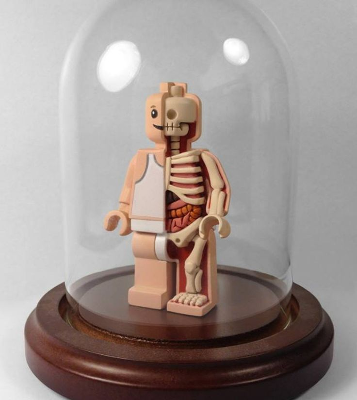 Micro Anatomic Anatomy Mini Fig By Jason Freeny x Mighty Jaxx