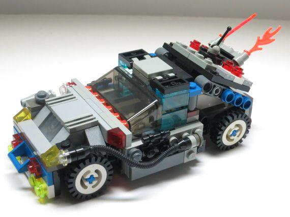 LEGO DeLorean DMC BTTF Back to the Future racer custom with bonus minifigure