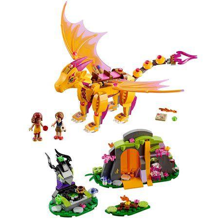 LEGO Elves Fire Dragon's Lava Cave 41175 – Walmart.com