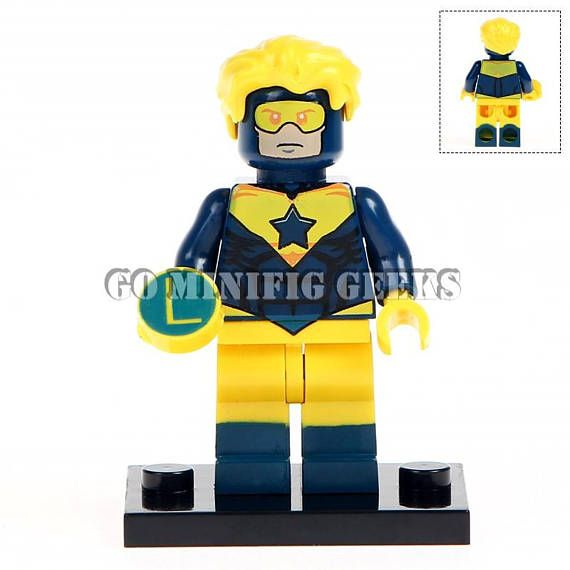 Custom Booster Gold Minifigure DC Comics Superhero Fits Lego UK Seller