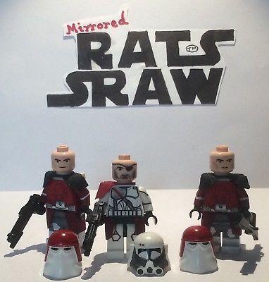 Lego Star Wars minifigures – Clone Custom – Comdr Bacara + x2 Galactic marines
