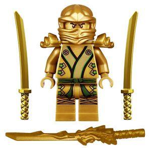 Details about NEW LEGO NINJAGO GOLDEN NINJA MINIFIG 70503 minifigure figure gold lloyd zx