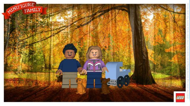 Create customized minifigure holiday cards with this app