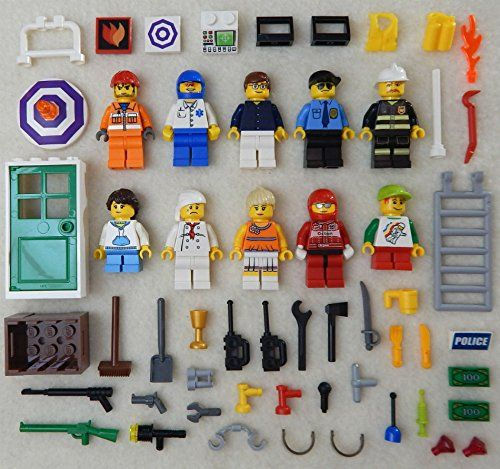10 NEW LEGO MINIFIG LOT figures people Men minifigures city town set guys girls