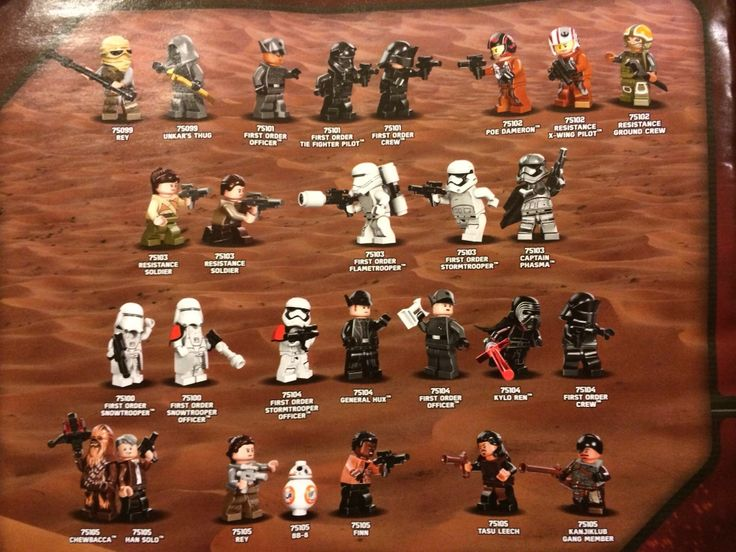 Star Wars: The Force Awakens Lego Minifigures Leak Online
