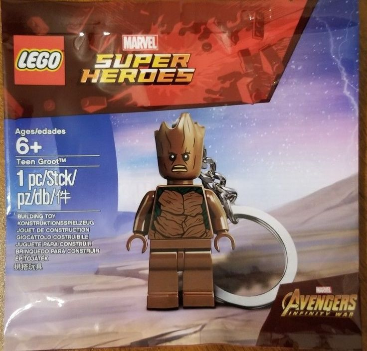 Lego Mini figure Teen Groot Keychain NEW! Marvel Super Heroes Avengers