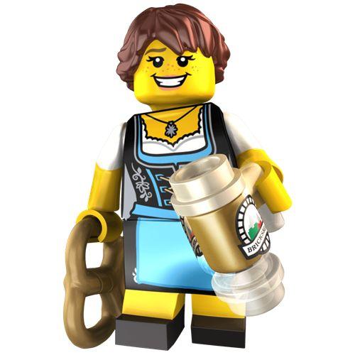 Female Oktoberfest Reveler Custom LEGO Minifigure