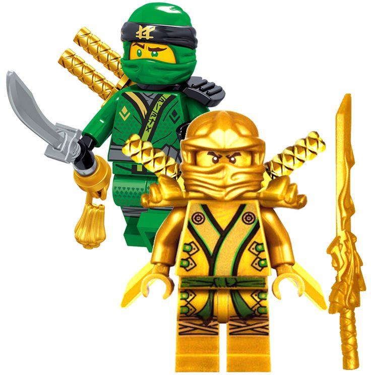 Details about NINJAGO MINIFIGURES SETS NINJA GOLDEN GREEN LLOYD GARMADON LEGO MASTERS minifig