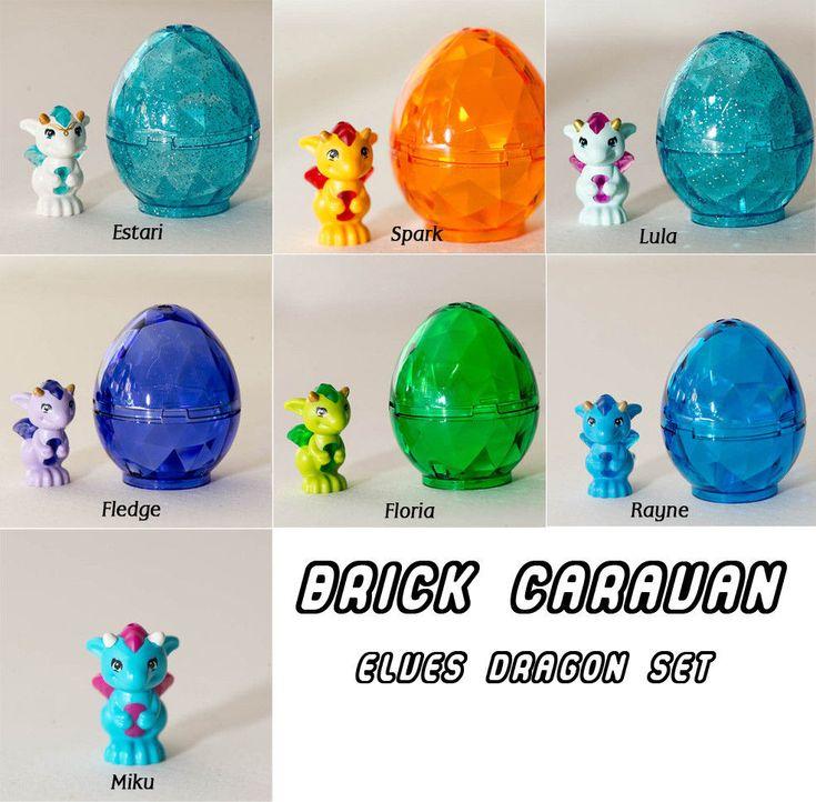 LEGO Elves baby dragon Set W/ Egg Estari Floria Rayne Lula Miku Spark and Fledge