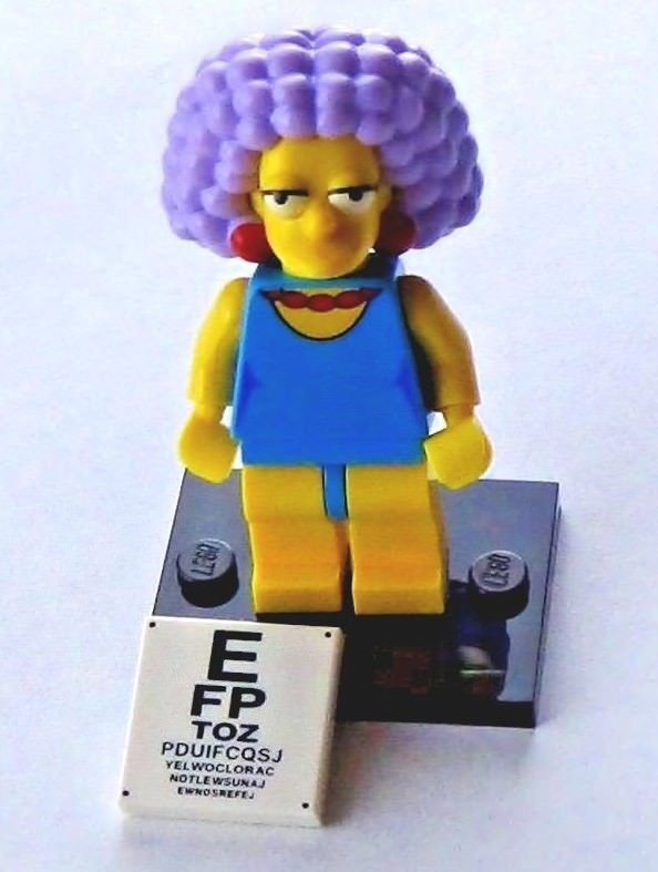 LEGO Minifigures Series 2 the Simpsons 71009 Selma Bouvier Eye Exam Mini Figure