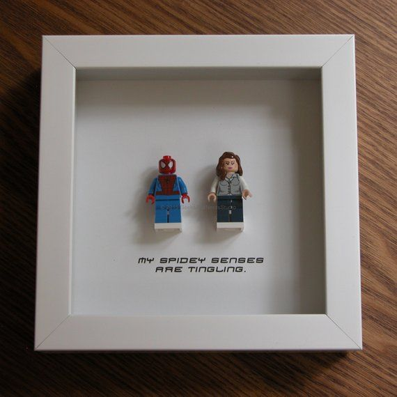 Superhero Art – Spiderman Wall Art – Spiderman & Mary Jane Watson – Couple Weddi…
