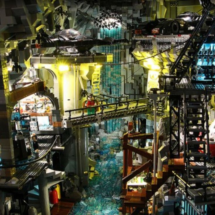 Check this out: THIS CUSTOM LEGO BATMAN CAVE IS ONE HUGE, SENSORY OVERLOAD. re.d…
