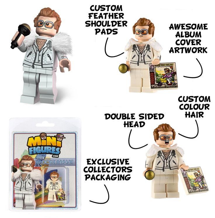 ELton John The Rocketman custom LEGO minifigure