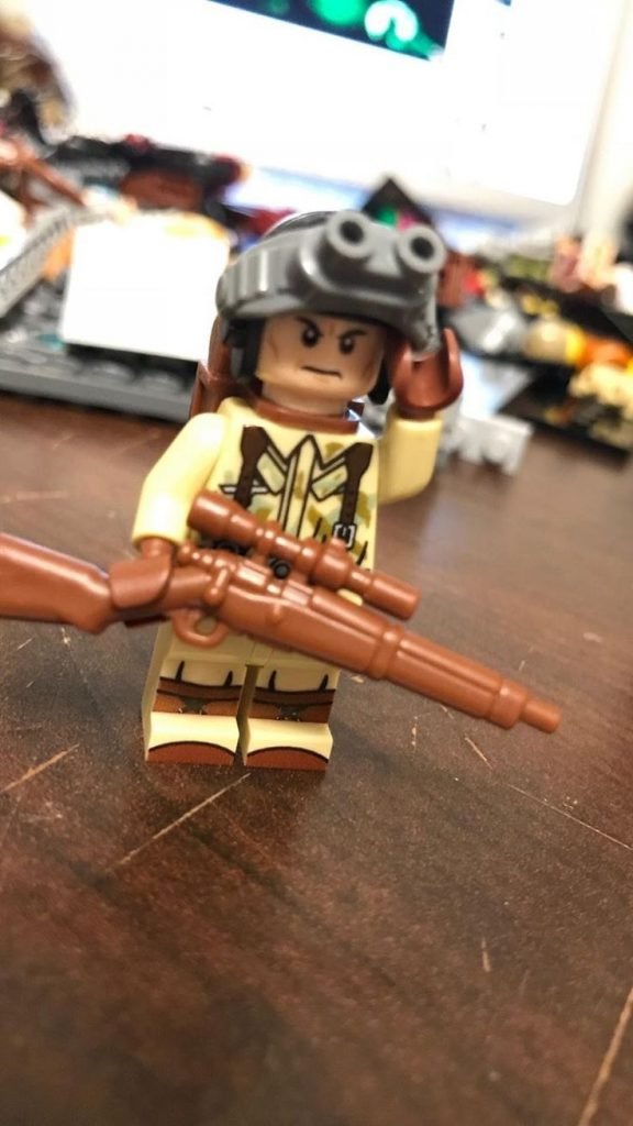 Custom LEGO Minifigure of the Week – Reporting for Duty, Sir by Carter Sieben