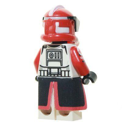 Custom Minifigur – Clone Commander Fox, rot, schwarzes Visir