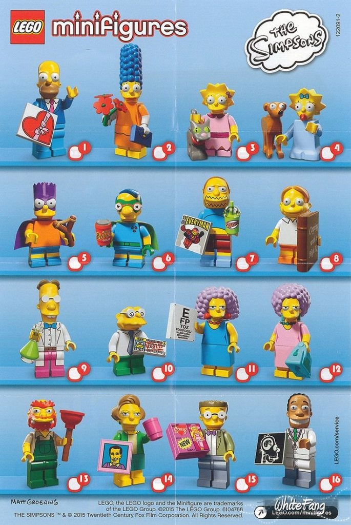 Details about LEGO 71009 Minifigures The Simpsons SERIES 2 YOU CHOOSE Willie Marge Homer etc