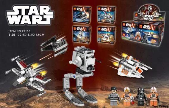 LELE 79185 Building Blocks Super Heroes Star Wars The Force Awakens Minifigures TIE Advanced Prototype Darth Vader Mini Figures