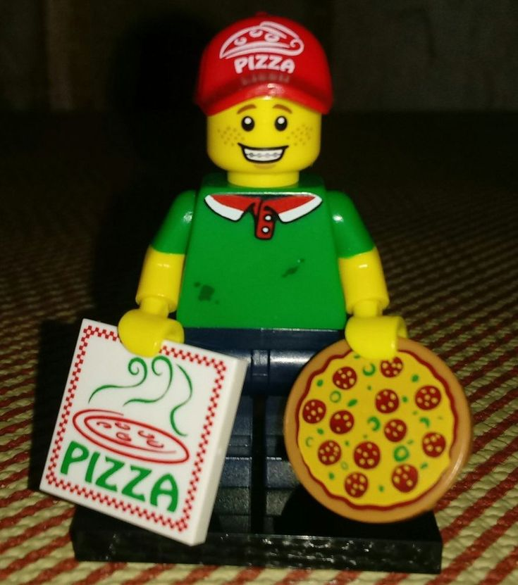 "LEGO ""Series 12"" PIZZA DELIVERY GUY Collectible Minifigure"