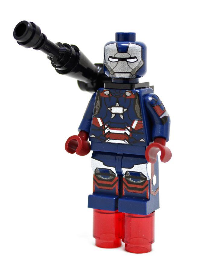 Lego Custom Minifigures – Iron Patriot by Minifigs4u www.flickr.com/…