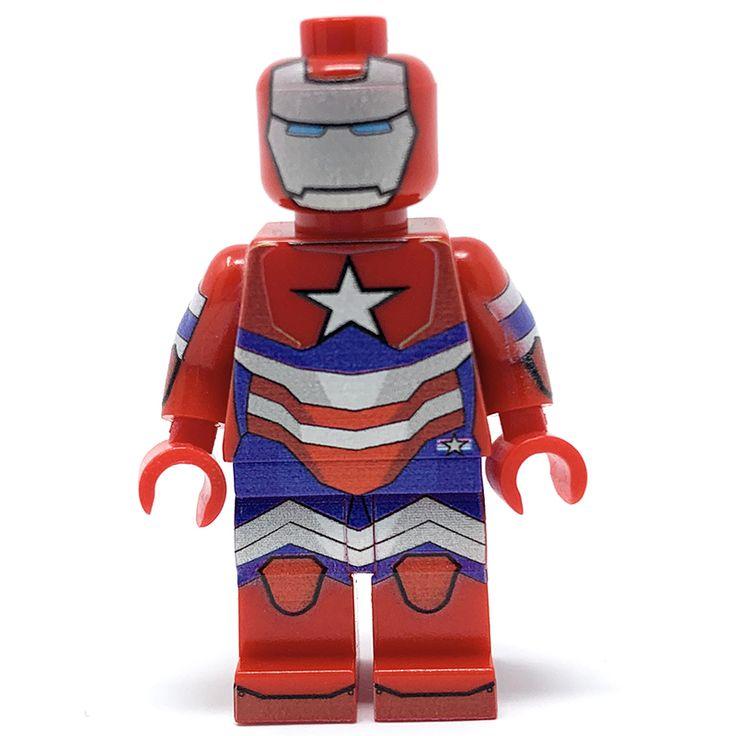 Mr. Patriot – Custom LEGO Minifigure w/ Display Case