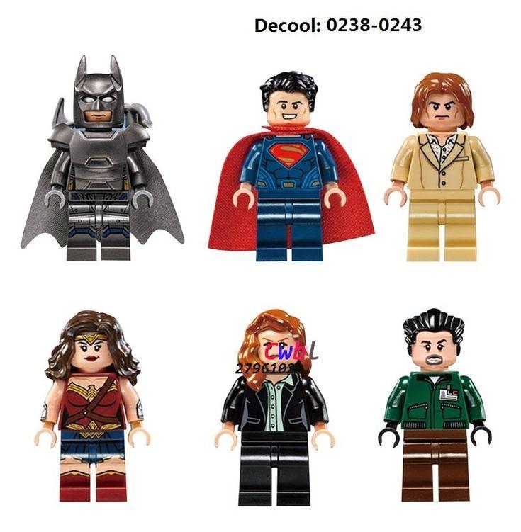 Super Heroes DC Batman Wonder Woman Justice League Lego Minifigures Compatible Toys