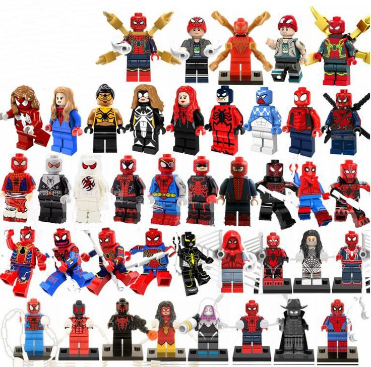 41Pcs Spider-Man Minifigures Compatible Lego Toy Avengers Super Heroes Spider-Man series