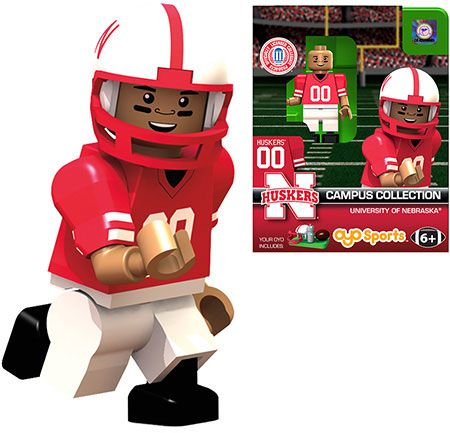 Husker Football Minifigure –  – Fat Brain Toys