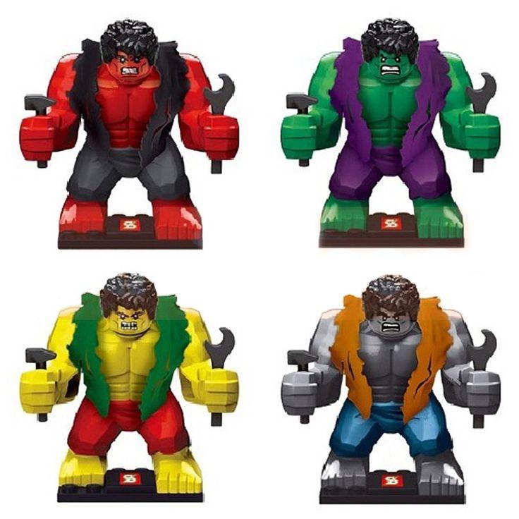 Super Hero Figure Avenger Marvel Hulk Morph Minifigure Compatible Lego Toy SY255